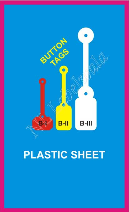 Plastic Sheet jewellery labels